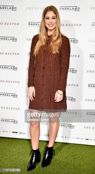 Amanda Clapham attends 'The Keeper' European Premiere at Vue Printworks on March 21 2019 in Manchester England