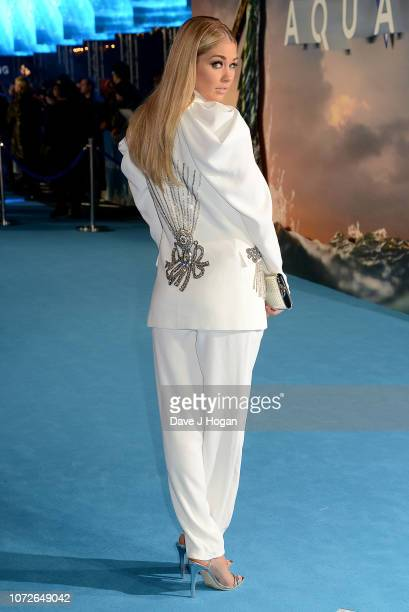 Amanda Clapham attends the World Premiere of 'Aquaman' at Cineworld Leicester Square on November 26 2018 in London England