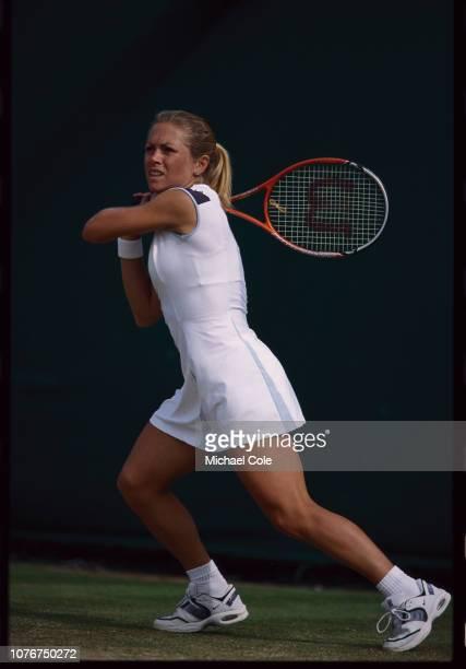 Amanda Coetzer During a Tennis Match at Wimbledon