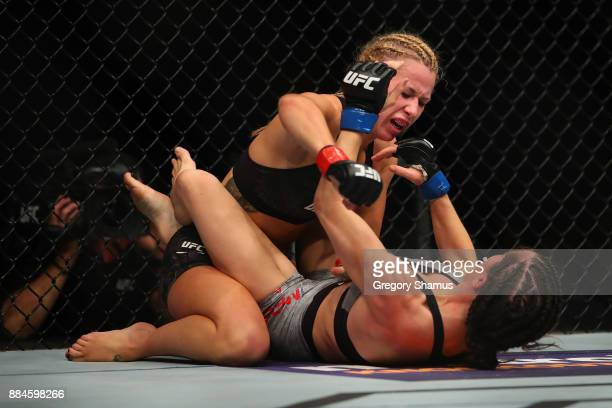 Amanda Cooper battles Angela Magana during UFC 218 at Little Ceasers Arena on December 2 2018 in Detroit Michigan