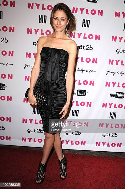 Amanda Crew attends Nylon Magazine's Young Hollywood Party at Tropicana Bar at The Hollywood Rooselvelt Hotel on May 12 2010 in Hollywood California