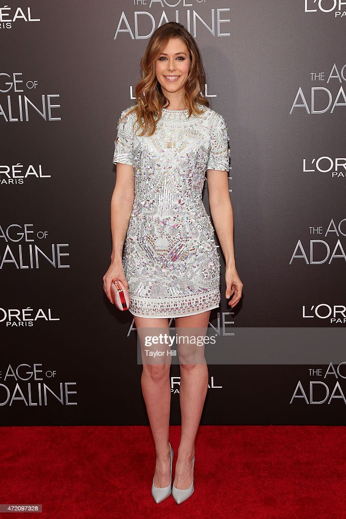 Amanda Crew attends 'The Age of Adaline' premiere at AMC Loews Lincoln Square 13 theater on April 19, 2015 in New York City.