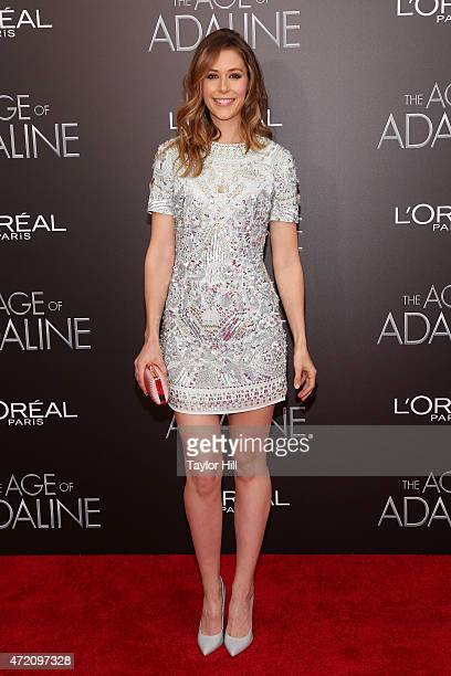 Amanda Crew attends The Age of Adaline premiere at AMC Loews Lincoln Square 13 theater on April 19 2015 in New York City