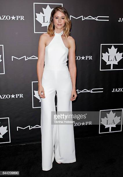 Amanda Crew attends the Golden Maple Awards 2016 at Mohawk Bend on July 1 2016 in Los Angeles California