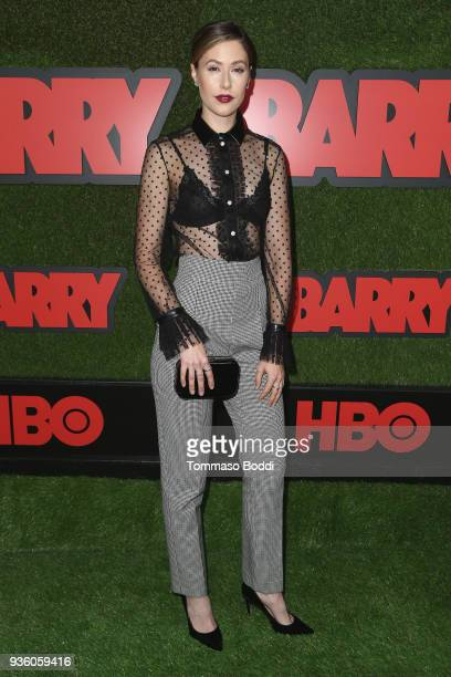 Amanda Crew attends the Premiere Of HBO's Barry at NeueHouse Hollywood on March 21 2018 in Los Angeles California