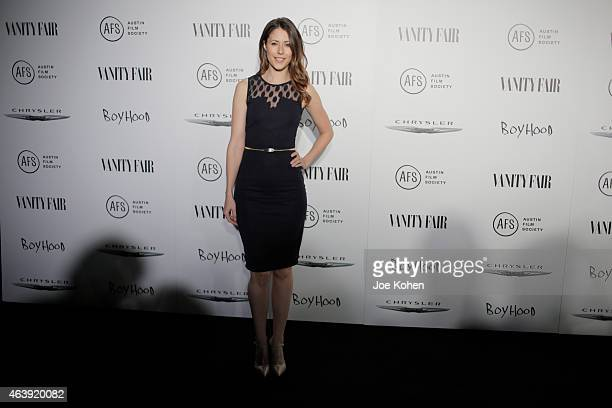 """Amanda Crew attends Vanity Fair and Chrysler celebrate Richard Linklater and the cast of """"Boyhood"""" at Cecconi's Restaurant on February 19, 2015 in..."""