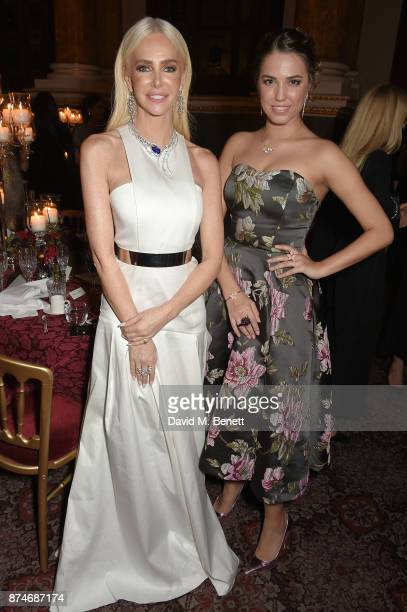 Amanda Cronin and Amber Le Bon attends the Leopard Awards in Aid of the Prince's Trust at Goldsmith's Hall on November 15 2017 in London England