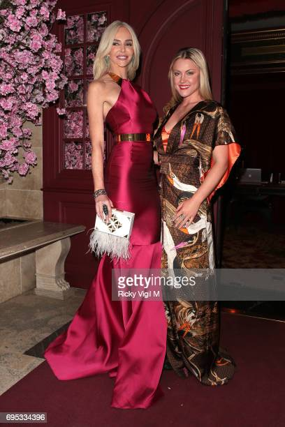Amanda Cronin and Camilla Kerslake attend An Evening of Oriental Splendour charity gala at Park Chinois on June 12 2017 in London England