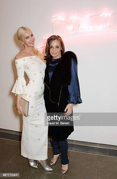 Amanda Cronin and Carole Siller attend the launch of Serpentine a new fragrance by The Serpentine Gallery and fashion house Comme des Garcons...