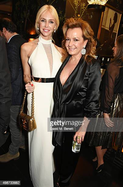 Amanda Cronin and Caroline Scheufele attend an after party following the screening of La Legende de La Palme d'Or at China Tang on November 25, 2015...