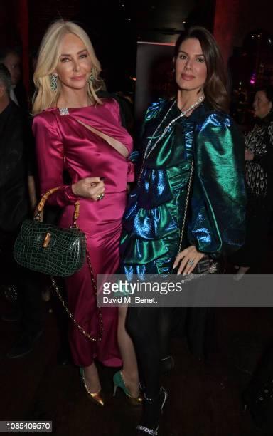 Amanda Cronin and Christina Estrada attend Lisa Tchenguiz's birthday party at Buddha Bar Knightsbridge on January 19 2019 in London England