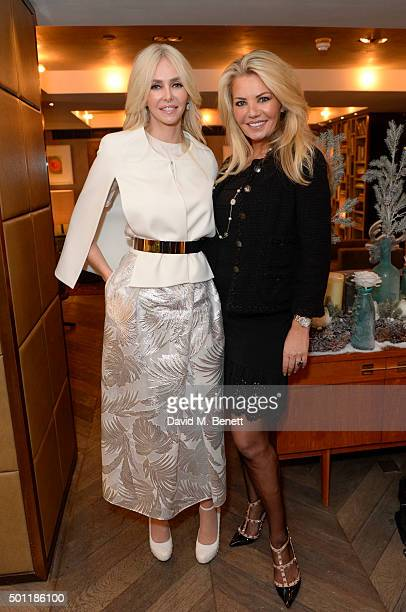 Amanda Cronin and Claire Caudwell attend the Saqqara Jewels lunch for Children In Crisis at the Belgraves Hotel on December 7 2015 in London England