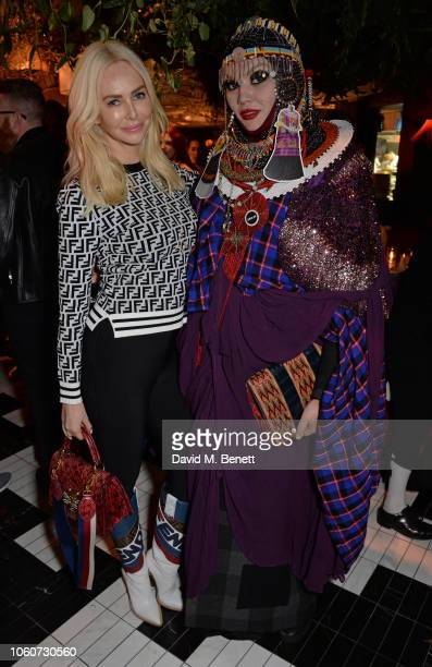 Amanda Cronin and Daniel Lismore attend the SUSHISAMBA Covent Garden grand opening party in partnership with Cool Earth and cohosted by Vivienne...