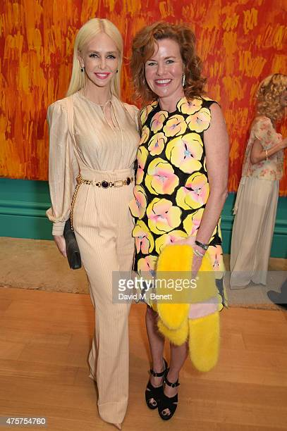 Amanda Cronin and Erin Morris attend the Royal Academy of Arts Summer Exhibition preview party at the Royal Academy of Arts on June 3, 2015 in...