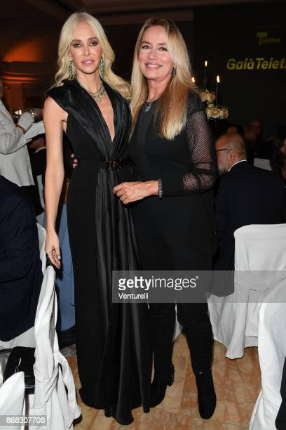 Amanda Cronin and Gloria Guida attend Telethon Gala during the 12th Rome Film Fest at Villa Miani on October 30 2017 in Rome Italy