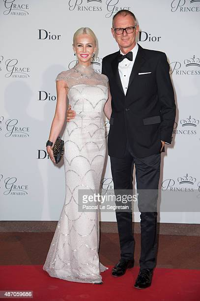 Amanda Cronin and guest attend the 2015 Princess Grace Awards Gala With Presenting Sponsor Christian Dior Couture at Monaco Palace on September 5...