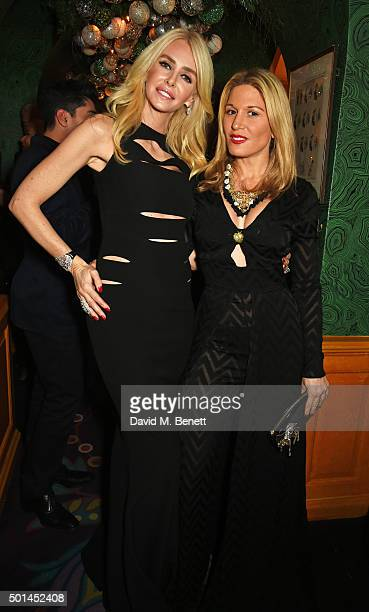Amanda Cronin and Hofit Golan attend the David Morris and Agent Provocateur drinks reception hosted by Jeremy Morris and Lisa Tchenguiz at Annabel's...