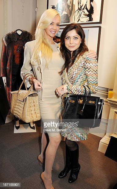Amanda Cronin and Kanika Kapoor attend the Missoni lunch hosted by Angela Missoni at Privatus on November 29 2012 in London England