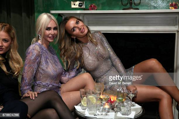Amanda Cronin and Masha Markova Hanson attend the 29 Lowndes store launch after party at Socialista>> on May 4 2017 in London England