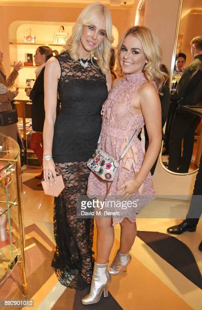 Amanda Cronin and Tallia Storm attend the FENDI Sloane Street boutique opening on December 14 2017 in London England