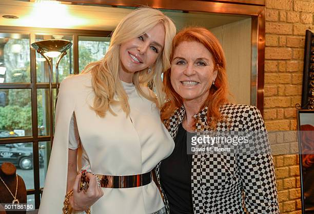 Amanda Cronin and The Duchess of Yorkattend the Saqqara Jewels lunch for Children In Crisis at the Belgraves Hotel on December 7 2015 in London...