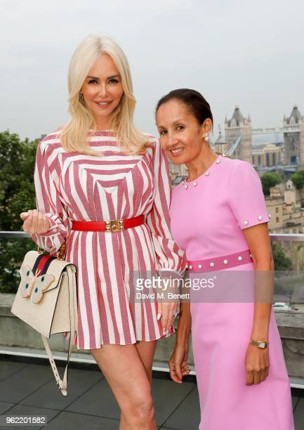 Amanda Cronin and Yasmin Prest attend the launch of the Four Seasons Residences London at Ten Trinity Square on May 24 2018 in London England