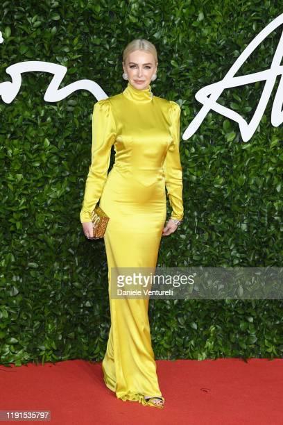 Amanda Cronin arrives at The Fashion Awards 2019 held at Royal Albert Hall on December 02, 2019 in London, England.