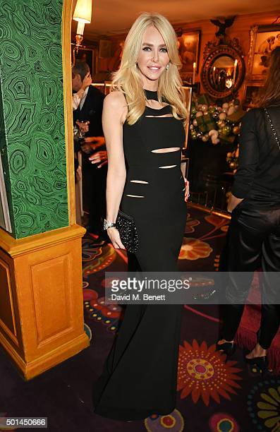 Amanda Cronin attends a reception and fashion show at the David Morris and Agent Provocateur party hosted by Jeremy Morris and Lisa Tchenguiz at...