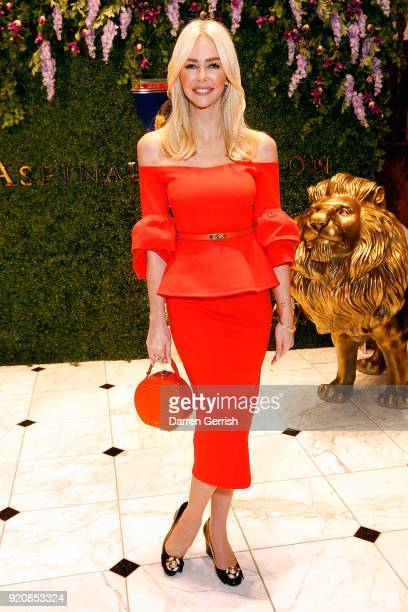 Amanda Cronin attends an Aspinal event at the Aspinal store at 16 Regent Street St James on February 19 2018 in London England