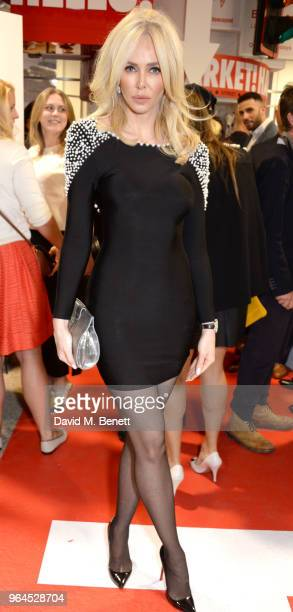 Amanda Cronin attends Hello Magazine's 30th anniversary party at Dover Street Market on May 9 2018 in London England