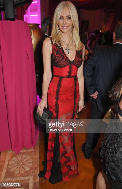 Amanda Cronin attends Lisa Tchenguiz's birthday party on January 20 2018 in London England
