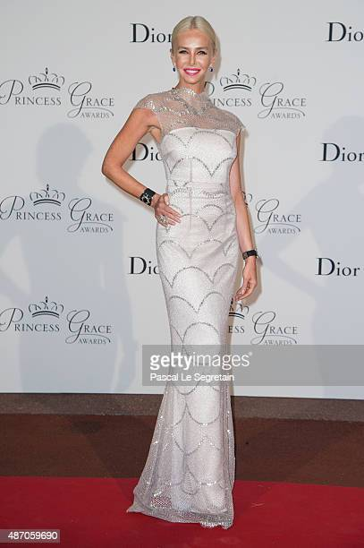 Amanda Cronin attends the 2015 Princess Grace Awards Gala With Presenting Sponsor Christian Dior Couture at Monaco Palace on September 5 2015 in...