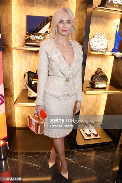 Amanda Cronin attends the FENDI MANIA Collection Launch on October 16 2018 in London England