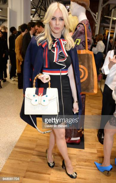 Amanda Cronin attends the Gucci Elton John Capsule launch hosted by Dover Street Market Gucci at Dover Street Market on April 17 2018 in London...