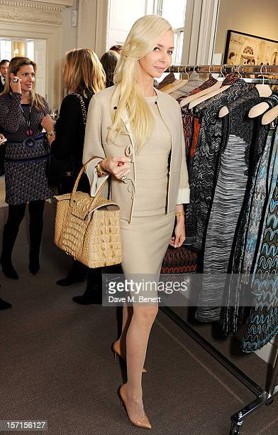 Amanda Cronin attends the Missoni lunch hosted by Angela Missoni at Privatus on November 29 2012 in London England