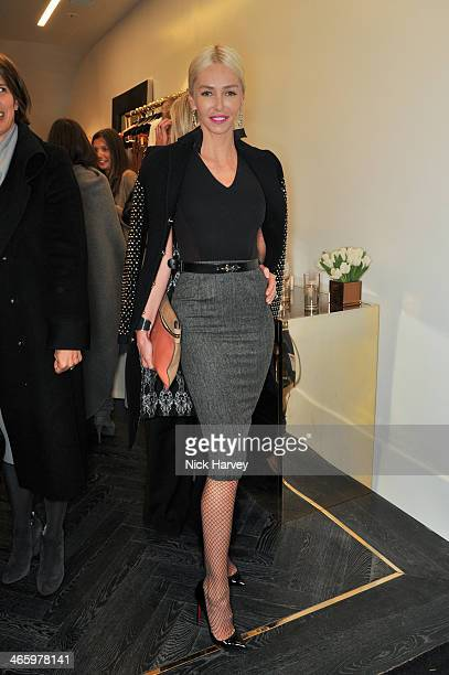 Amanda Cronin attends the opening of the new Amanda Wakeley store on January 30 2014 in London England