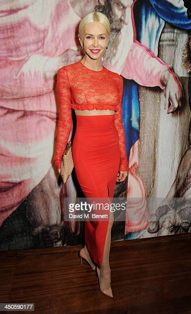 Amanda Cronin attends the private view of Isabella Blow Fashion Galore a new Somerset House exhibition at Somerset House on November 19 2013 in...