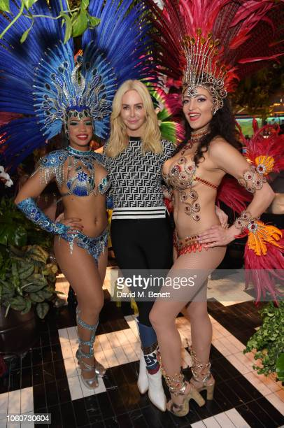 Amanda Cronin attends the SUSHISAMBA Covent Garden grand opening party in partnership with Cool Earth and cohosted by Vivienne Westwood Jo Wood Leah...