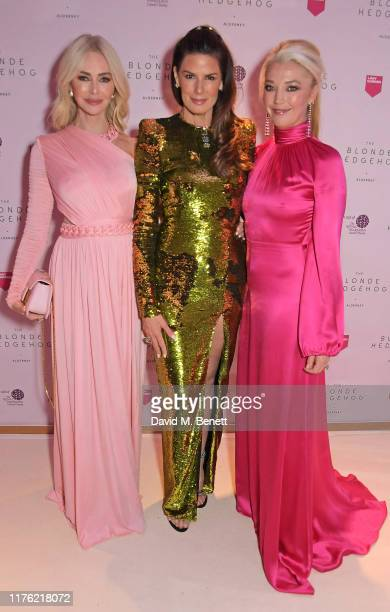 Amanda Cronin Christina Estrada and Tamara Beckwith attend the Lady Garden Foundation Gala 2019 at Claridge's Hotel on October 16 2019 in London...
