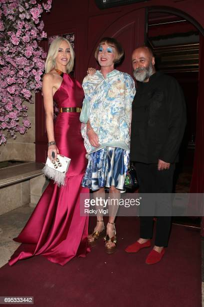 Amanda Cronin Grayson Perry and Richard Young attend An Evening of Oriental Splendour charity gala at Park Chinois sighting on June 12 2017 in London...