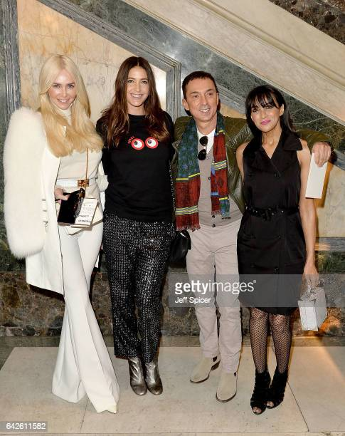 Amanda Cronin Lisa Snowdon Bruno Tonioli and Jackie St Clair attend the Julien Macdonald show during the London Fashion Week February 2017...