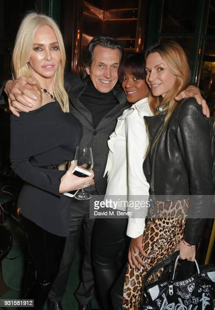 Amanda Cronin Stephen Webster Phoebe Hitchcox and Caroline SciammaMassenet attend the launch of Champagne Armand de Brignac Blanc de Blancs en Magnum...