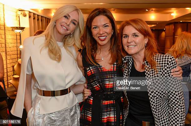 Amanda CroninHeather KerznerThe Duchess of York attend the Saqqara Jewels lunch for Children In Crisis at the Belgraves Hotel on December 7 2015 in...