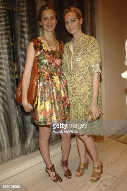 Amanda Cutter Brooks and Lauren DuPont attend ROGER VIVIER Party to Preview The Spring/Summer Cut Up a Unique and Personalized Bag at Roger Vivier on...