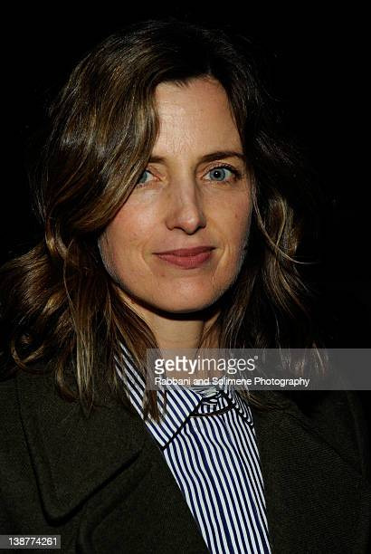 Amanda Cutter Brooks attends the Alexander Wang Fall 2012 fashion show during MercedesBenz Fashion Week at Pier 94 on February 11 2012 in New York...