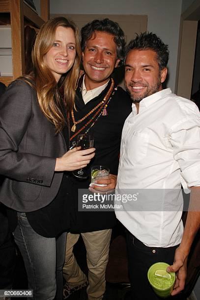 Amanda Cutter Brooks Carlos Souza and Carlos Mota attend CARLOS MOTA celebrates the New Year and toasts Carlos Souza upon his departure from...