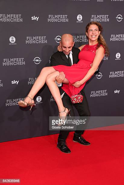 Amanda da Gloria and Maximilian Allgeier during the opening night of the Munich Film Festival 2016 at Mathaeser Filmpalast on June 23 2016 in Munich...