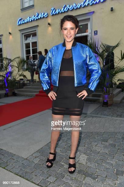 Amanda da Gloria attends the UFA Fiction Reception during the Munich Film Festival 2016 at Cafe Reitschule on July 2 2018 in Munich Germany