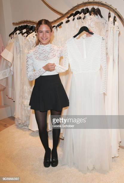 Amanda da Gloria during the opening of the Kaviar Gauche Bridal Concept Store on January 11 2018 in Munich Germany