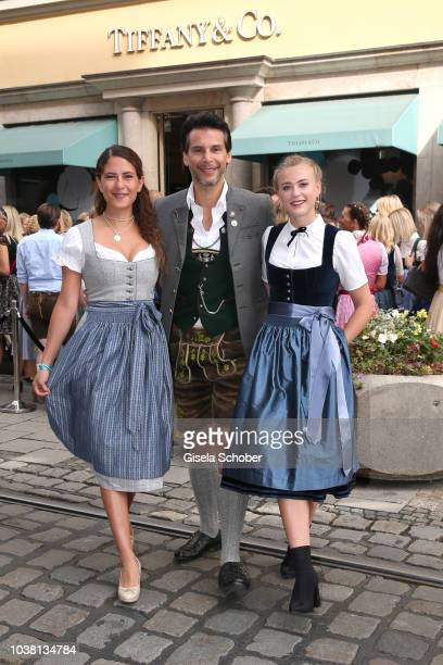 Amanda da Gloria Florian Odendahl Jeanne Goursaud during the 'Fruehstueck bei Tiffany' at Tiffany Store ahead of the Oktoberfest on September 22 2018...